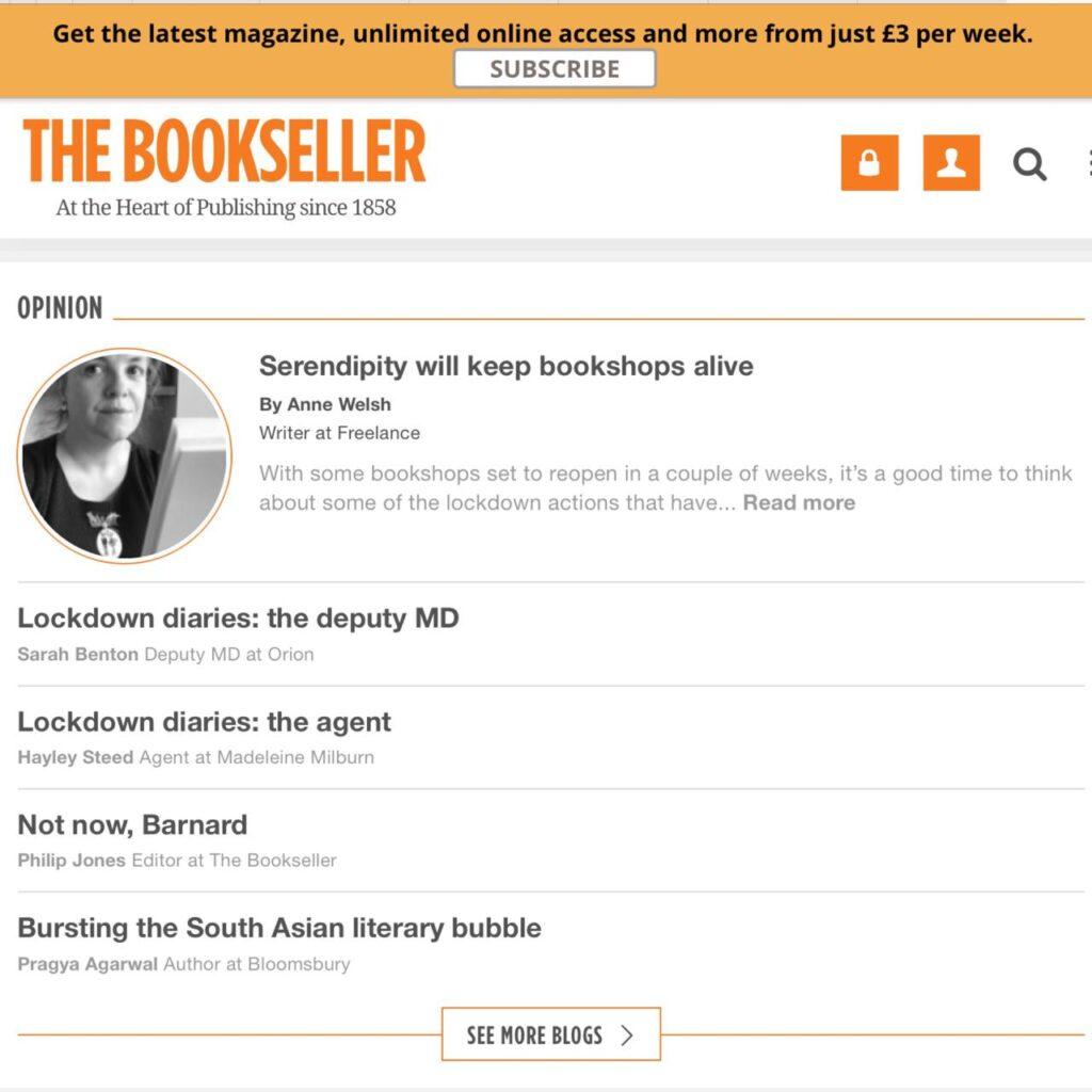 Bookseller Article, June 2020