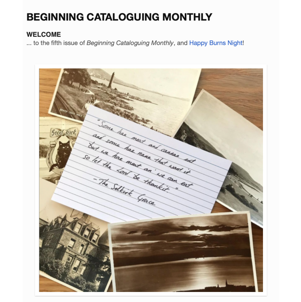 Beginning Cataloguing Issue 5
