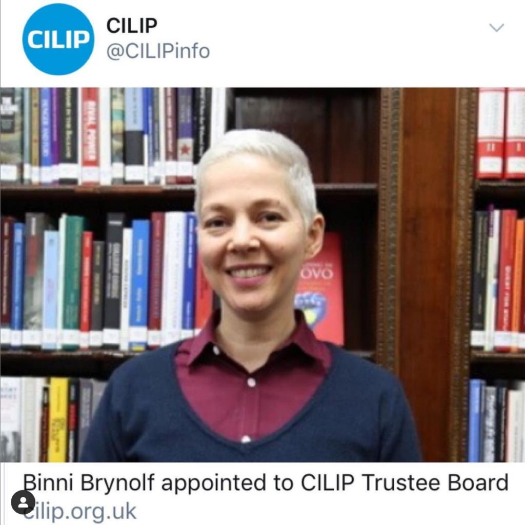 Binni Brynolf Appointed as CILIP Trustee
