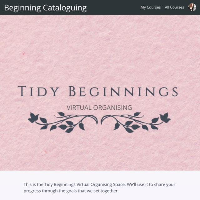 Tidy Beginnings Virtual Organising Space