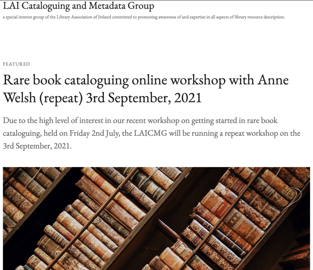 LAI CMG WordPress page for event - see page itself for alt text.